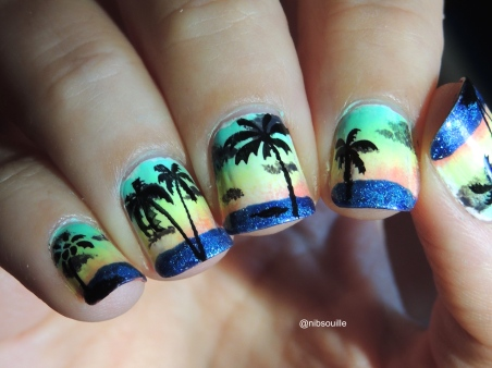 Nail Art Tropical.