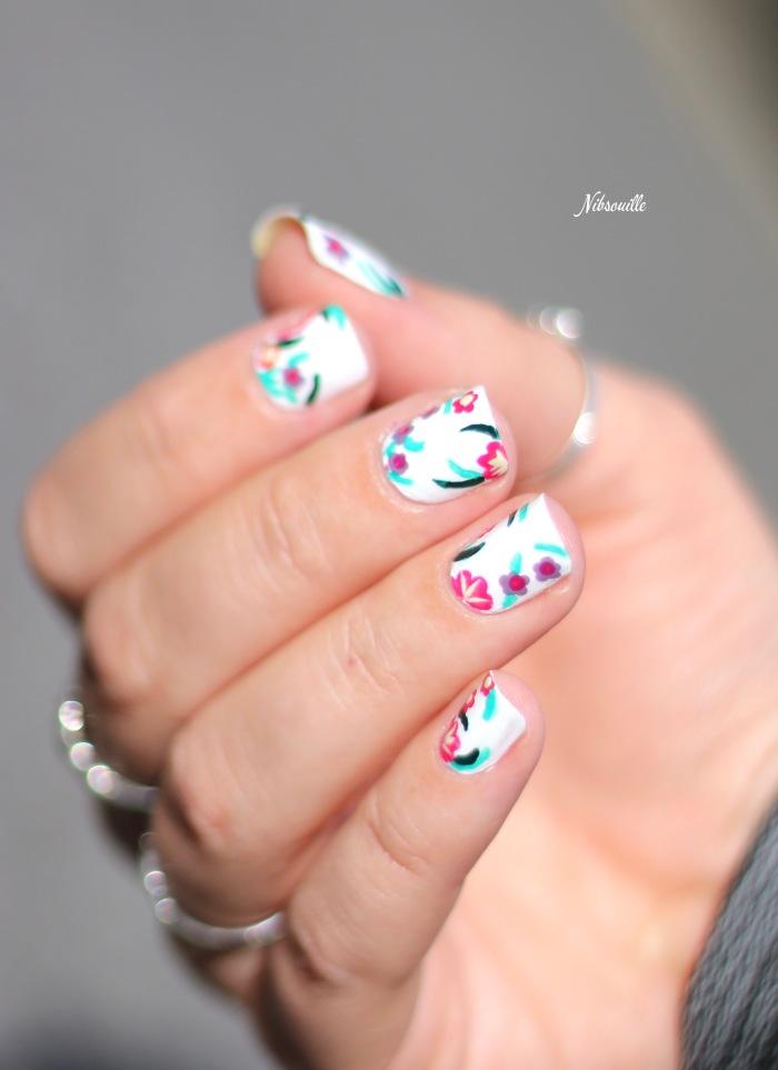 XComaBirthday Nail Art Fleuri _2