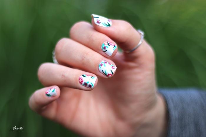XComaBirthday Nail Art Fleuri _3