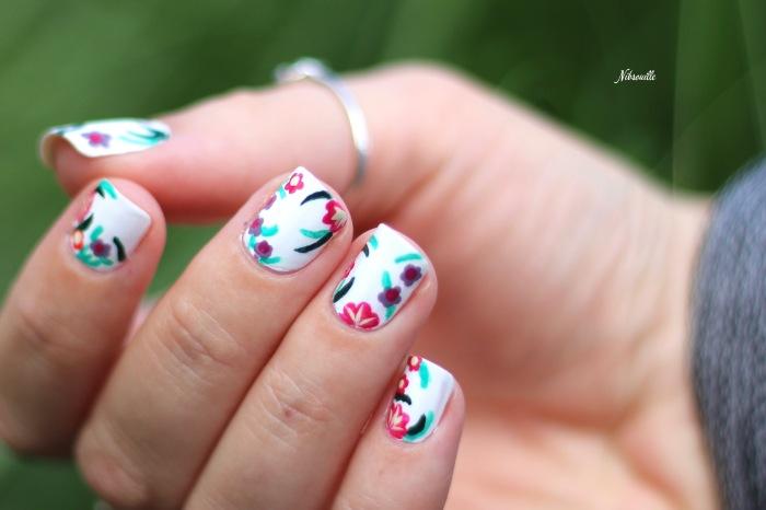 XComaBirthday Nail Art Fleuri _4