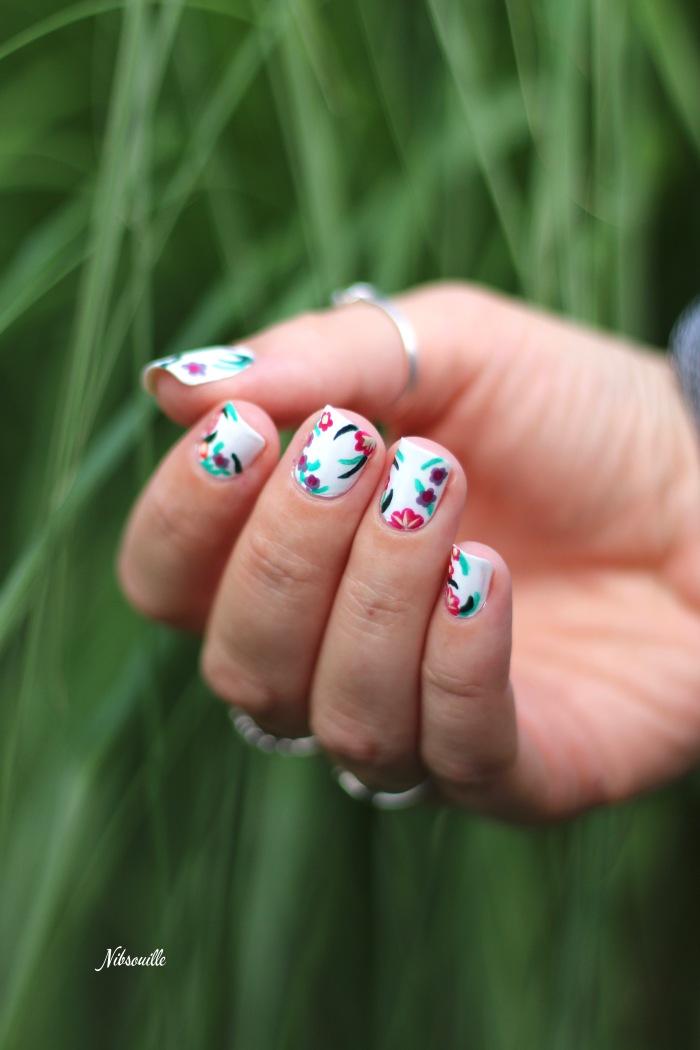 XComaBirthday Nail Art Fleuri _5