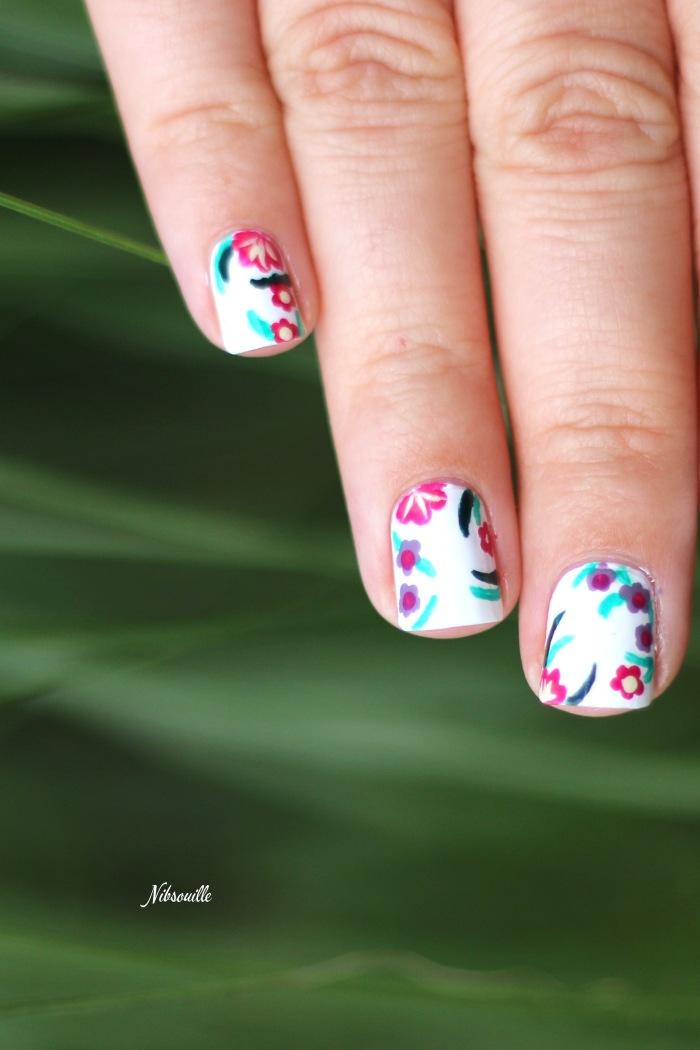 XComaBirthday Nail Art Fleuri _6