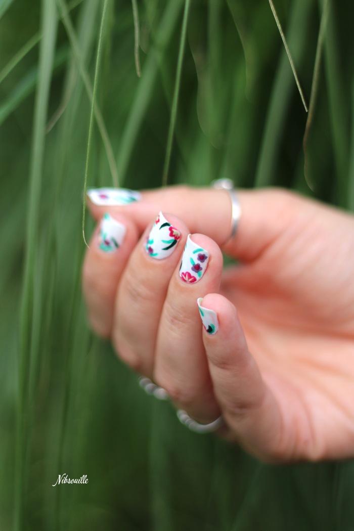 XComaBirthday Nail Art Fleuri _7
