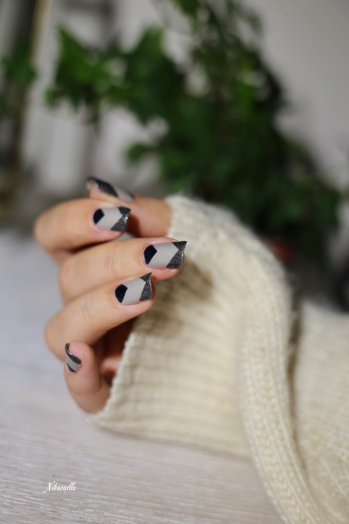 Nail Art Automne Gris 1