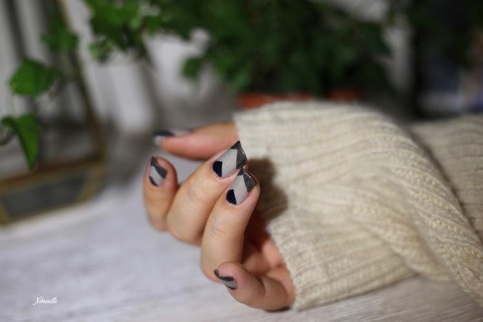 Nail Art Automne Gris 4