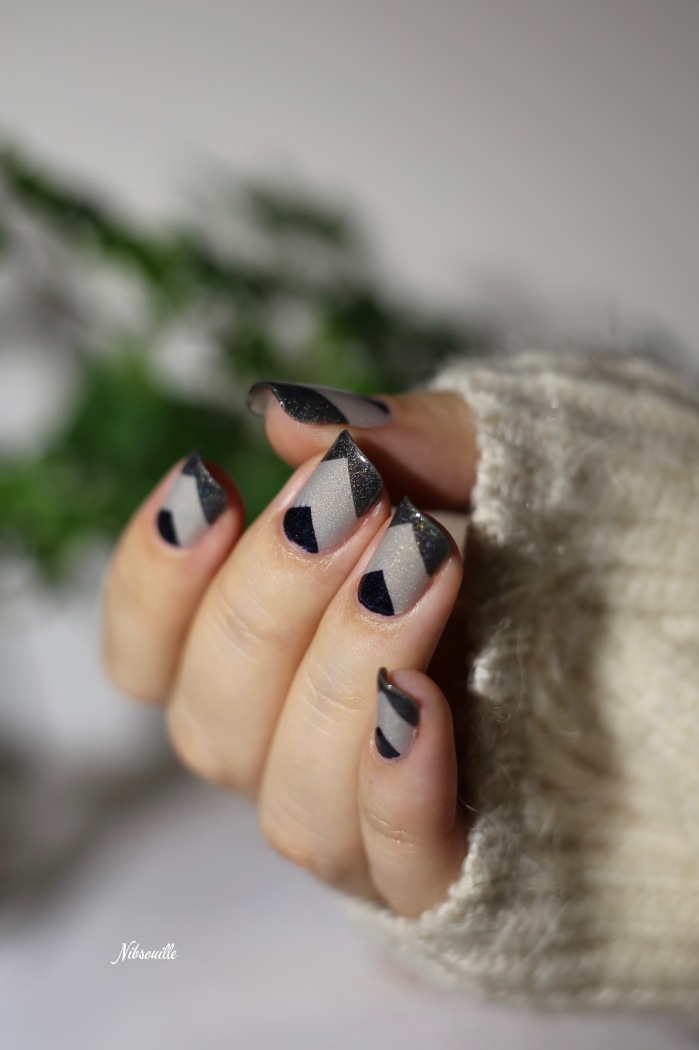 Nail Art Automne Gris 6