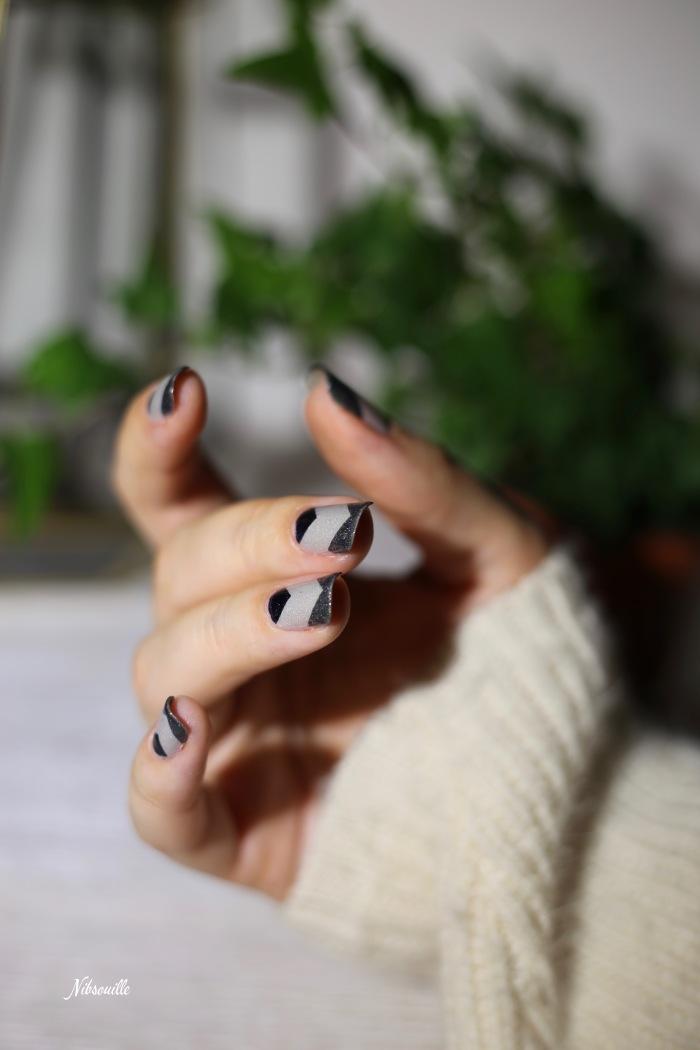 Nail Art Automne Gris 3