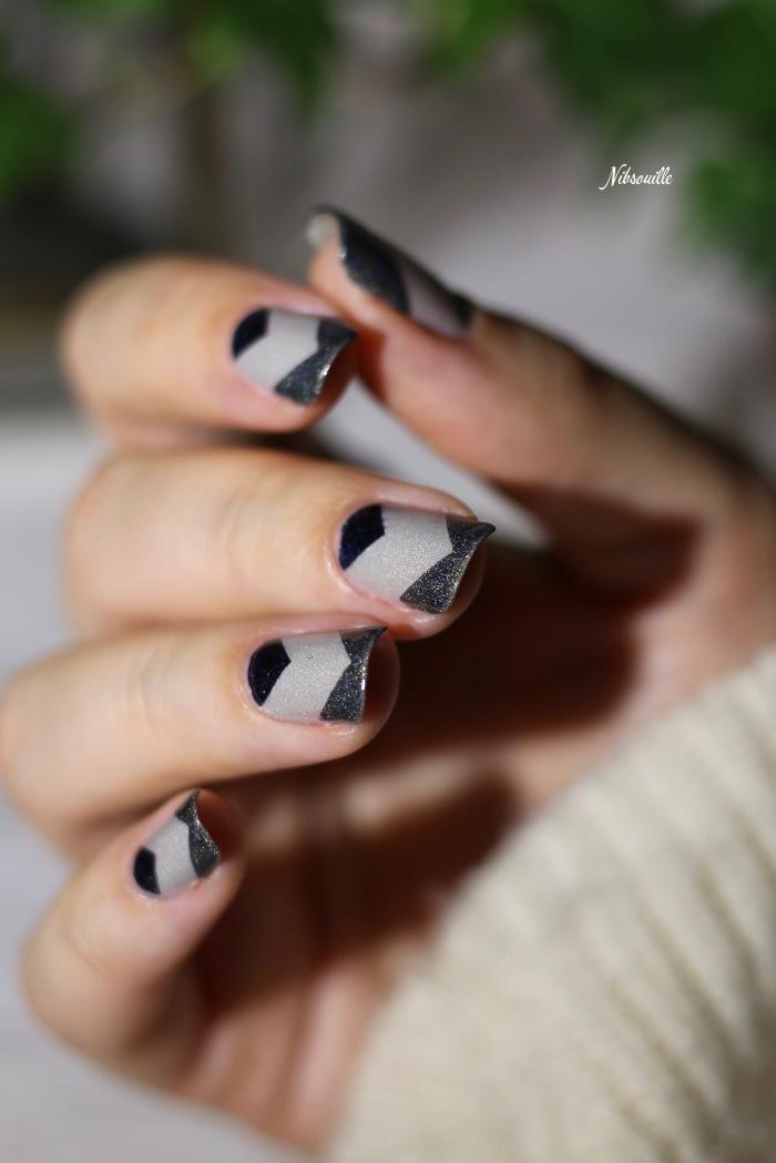 Nail Art Automne Gris 8