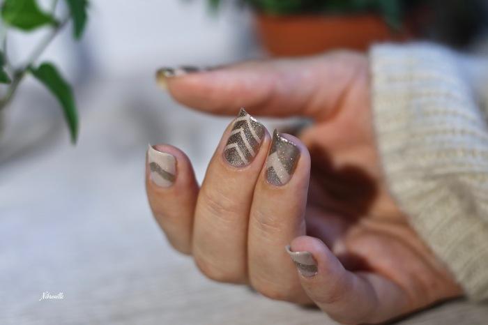 Nail Art Doré Automne 4