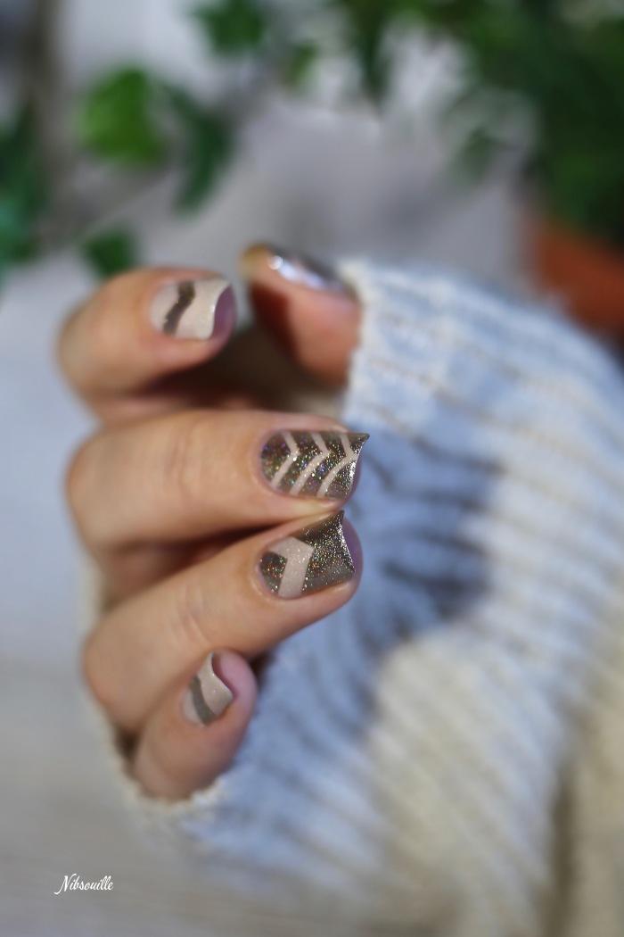 Nail Art Doré Automne