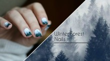 Winter Forest Nails