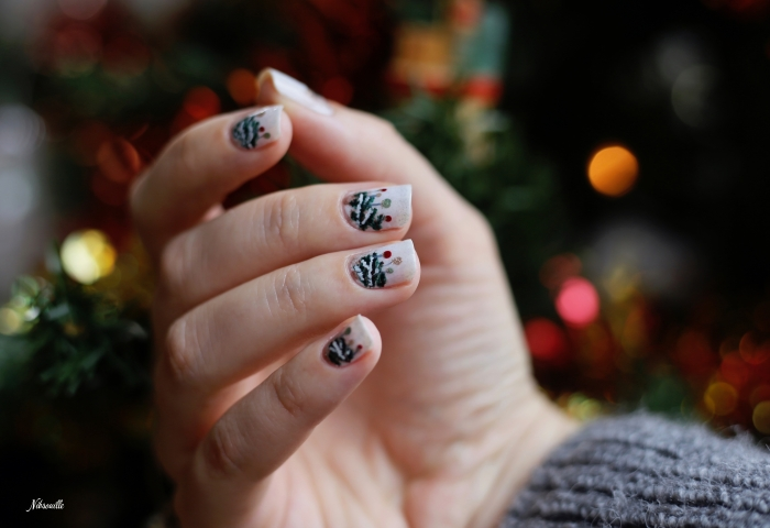 Nail Art Noël Sapin Sauvage